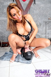 Paola lima and pablo  paola lima gagging her slave with voluminous cock. Paola Lima Gagging Her Slave With big cock