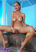 Gisele olivier  busty tranny gisele shows her tits amp cock. Curvy tranny Gisele shows her breasts & penish