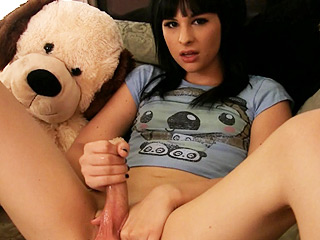 Bailey jay aka harley quinn. Naughty teenage tgirl playing with her fat dick
