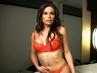 Brooke. Brunette ladyboy hottie gets caught