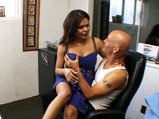 Carmen moore office hardcore. Hot TS having fun with her boss