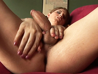 Amy daly Hot shemale playing with her fat cock and tight booty.
