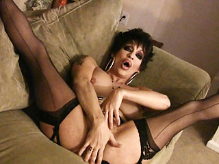 Kourtney. Naughty shemale Kourtney delight in horny black stockings