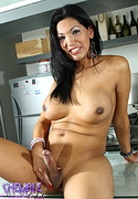 Natalia  pretty ts natalia posing her fat massive dick in kitchen. Beautiful TS Natalia posing her fat massive cock in kitchen