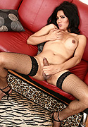 Som. Cute Som strips and plays in stockings