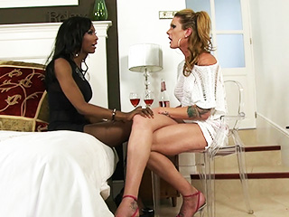 Morgan and natassia. TS Morgan & Natassia lick, have sexual intercourse & sucks