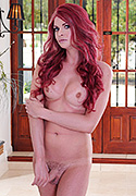 Liberty harkness. Hot redhead Liberty strips & jerks