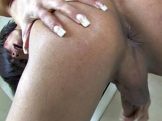 Shandira. Lascivious Shandira spreads & jerks