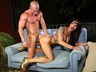 Eva paradis and toni. Cute Eva takes a big cock