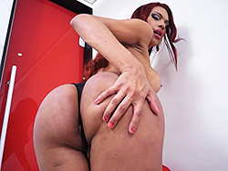 Mylia. Round booty Mylia jerks and pees
