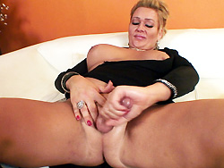 Mandi. Mandi toying, playing with her tool and oil and cums