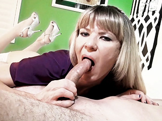 Lora and gavin. Naughty Lora blowing and riding Gavin's stiff penish