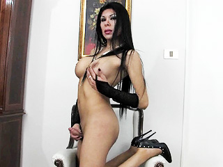 Andrea. Brunette hottie Andrea playing with herself