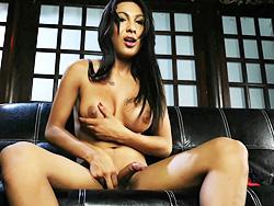 Nathali rosas Busty brunette Nathali masturbating.