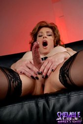 Jasmine jewels Hot tranny MILF Playing With Her Fat excited tool.
